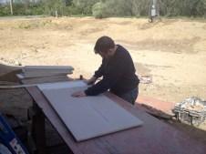 4/28/12 Luke working on ceiling tiles