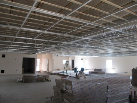 4/11/12 Fellowship Hall acoustic ceiling