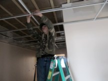 4/12/12 Billy working the acoustic ceiling