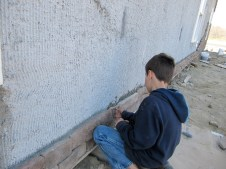 4/18/12 Jake Vallee putting up a stone