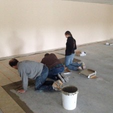5/1/12 laying tile–not pictured, Brannon also helped!
