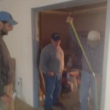5/4/12 Bob & Tommy hanging the storage room doors