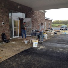 5/5/12 Brannon & Pastor Terry at work