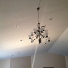 5/8/11 Installed chandelier.