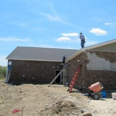 5/7/12 Gutters being installed