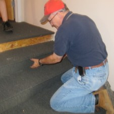 5/26/12 Mr. Goodfellow gluing carpet