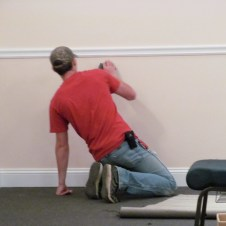 7/7/12 Brannon touching up the wall