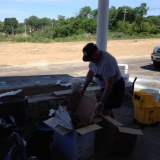 6/30/12 Ray collecting trash