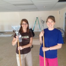6/30/12 Tammy & Christy sweeping up