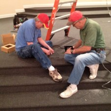 7/10/12 Dave Nobles & Tommy Goodfellow working on the sound system