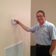 7/11/12 Pastor Terry turning on the AC! YAY!