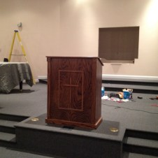 7/14/12 the pulpit in place