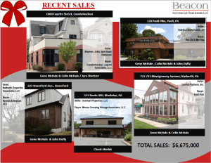 Beacon Ends 2019 by Closing 5 Properties