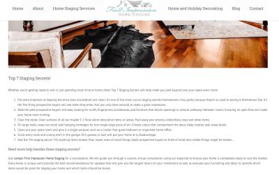 Sample blog post for first impression