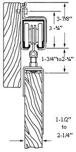 BD301 Galvanized Track for Exterior Barn Door Hardware