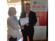 Cllr. Danny Collins with Gillian Desmond at the closing of the Skibbereen programme