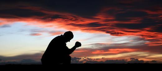 Someone praying
