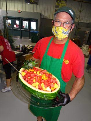<p><p>Steve Crump with a watermelon medley</p></p><p></p>