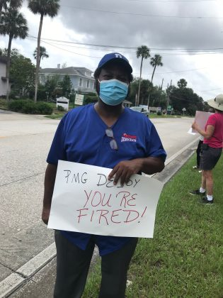 """<p><p>Florida House of Representatives District 26 candidate Patrick Henry came out to participate. """"This is not a political issue. This is about everybody,"""" Henry said. """"How about veterans - not even just veterans, anybody - who rely on getting their medicine delivered? Who rely on the post office to communicate?""""</p></p><p></p>"""