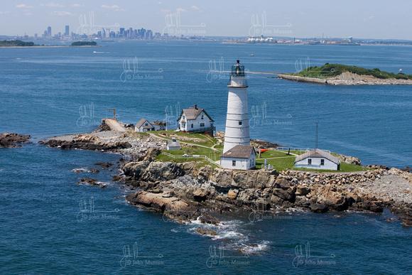 Beacon Photography  Framing  Boston Harbor  Boston Light