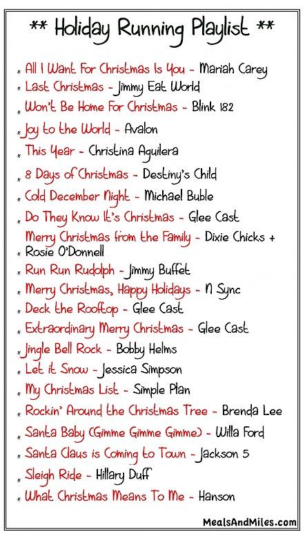 Holiday-Running-Playlist