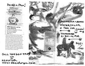 watercolor flyer
