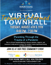 Parenting Through the Trauma of a Pandemic Virtual Town Hall Be Active Decatur