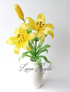 French Beaded Lilies by Lauren Harpster