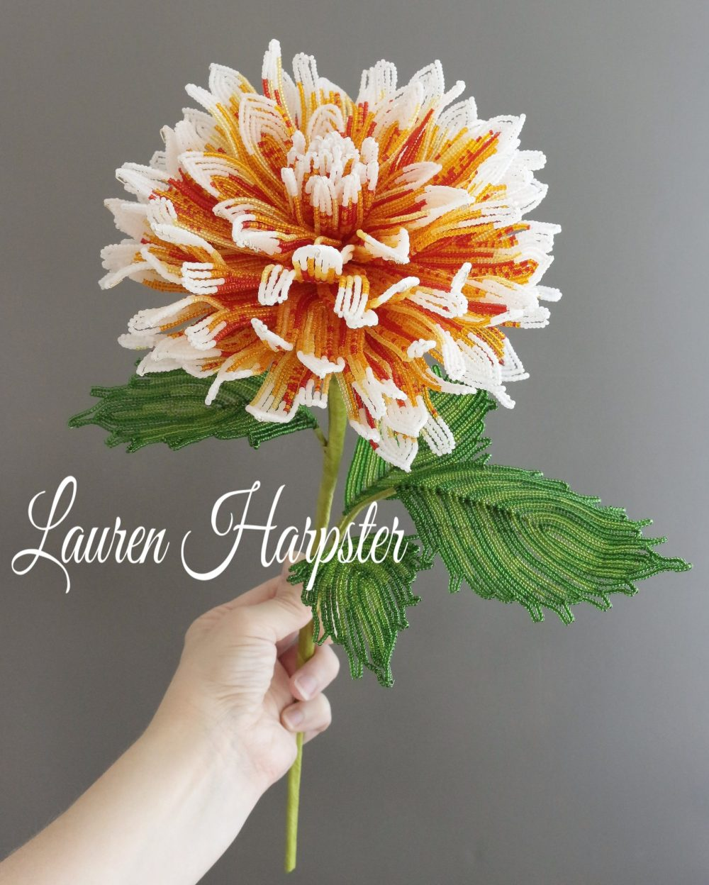 French Beaded Dahlia by Lauren Harpster