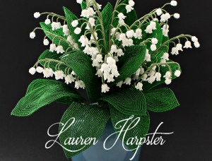 French Beaded Lily of the Valley by Lauren Harpstr