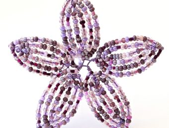 French Beaded Flower tutorial - Continuous Basic Frame technique, by Lauren Harpster