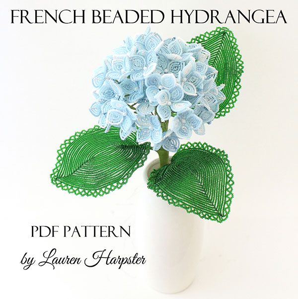 French Beaded Hydrangea pattern by Lauren Harpster