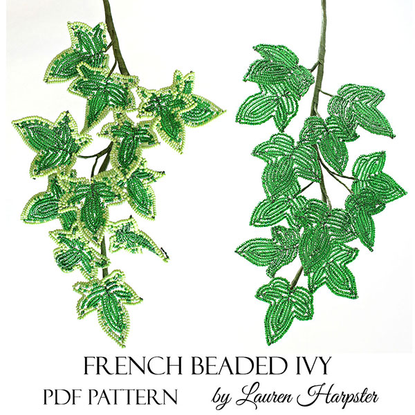 French Beaded Ivy pattern by Lauren Harpster