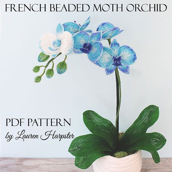 French Beaded Moth Orchid master class by Lauren Harpster