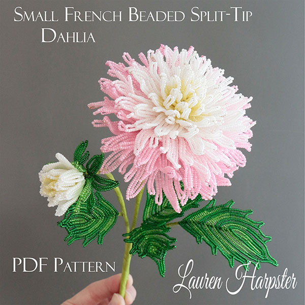 French Beaded Dahlia master class by Lauren Harpster