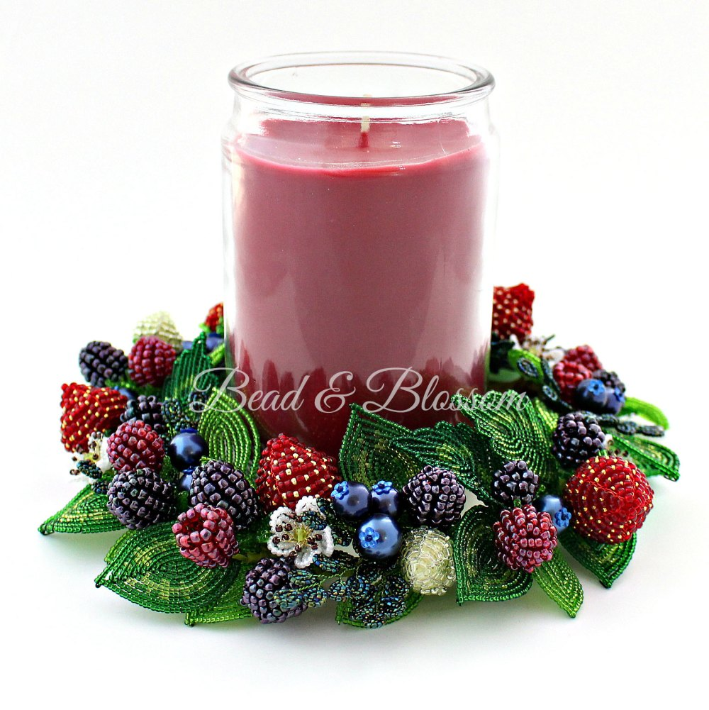 French Beaded Berry Candle Ring master class by Lauren Harpster and Suzanne Steffenson