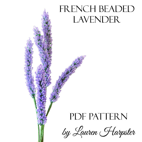 PDF Pattern - French Beaded Lavender