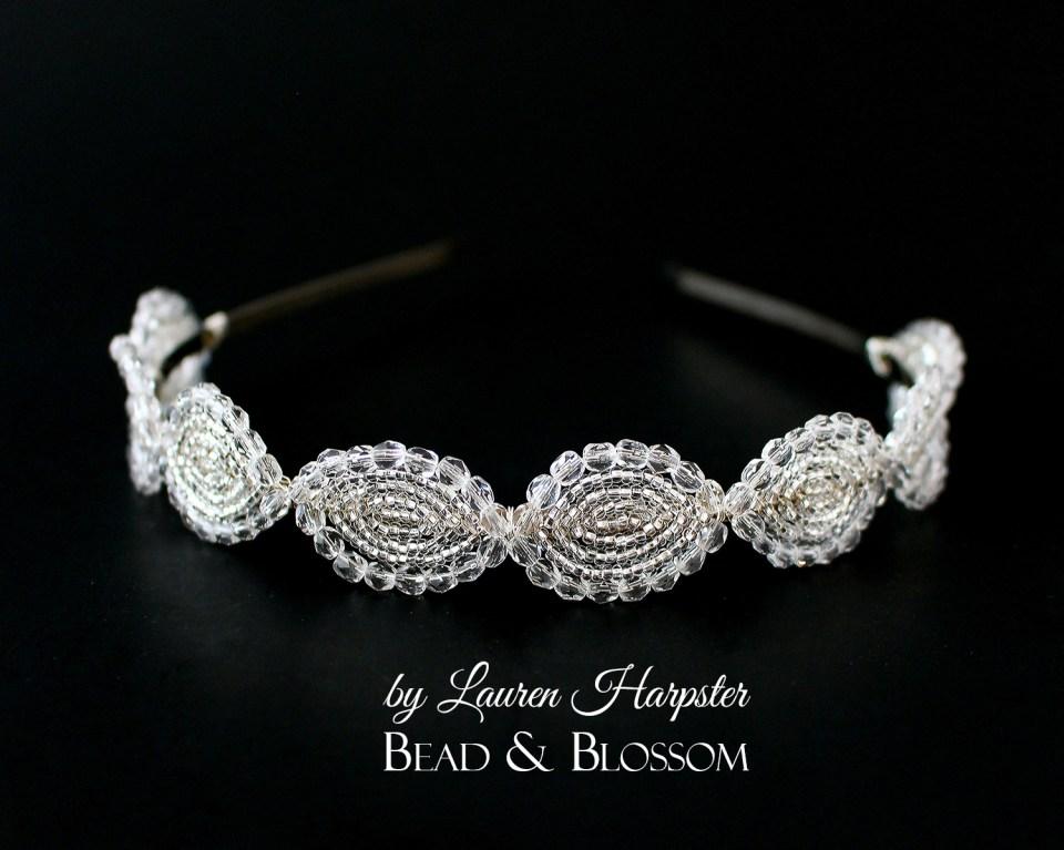 French Beaded Headband by Lauren Harpster