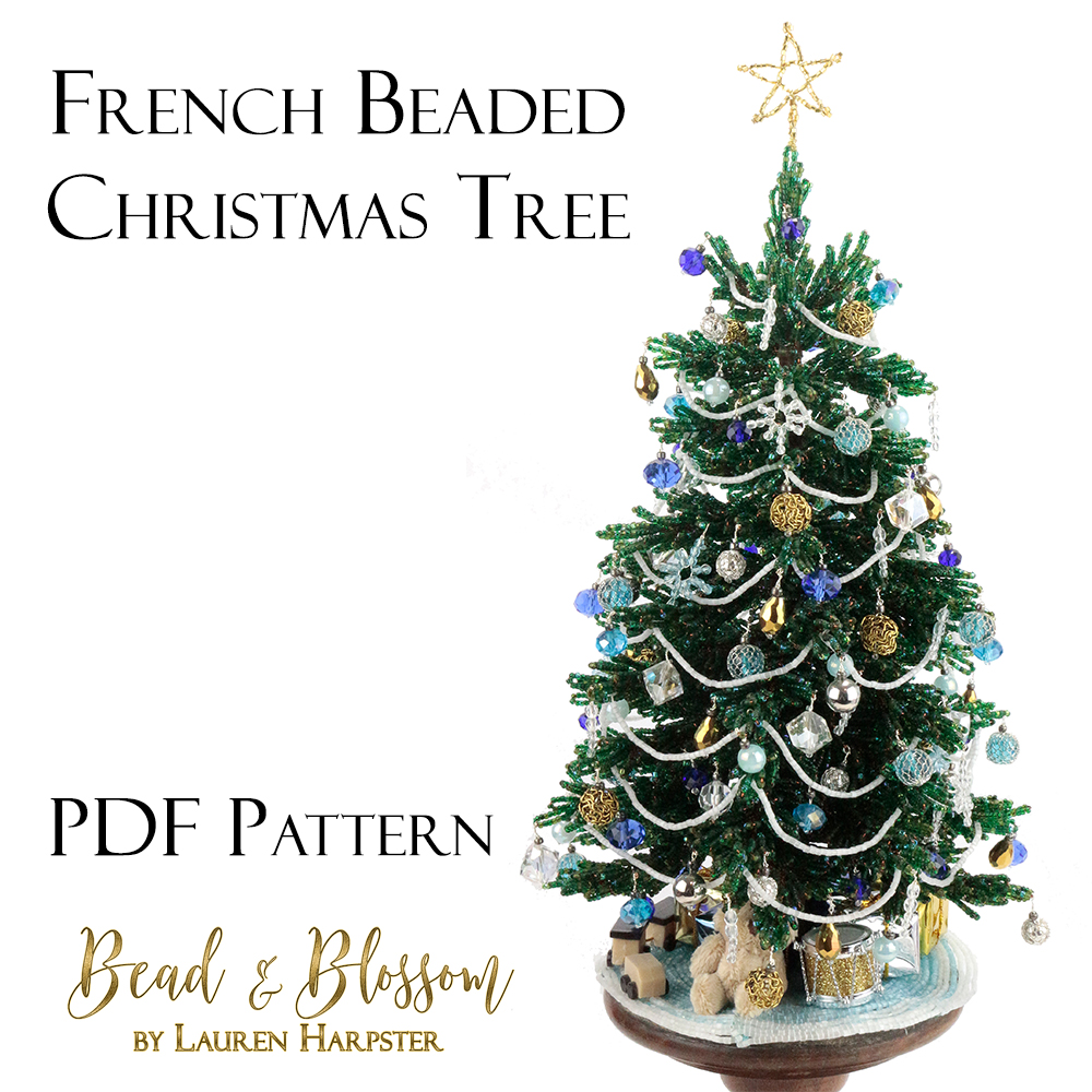 French Beaded Christmas Tree pattern by Lauren Harpster