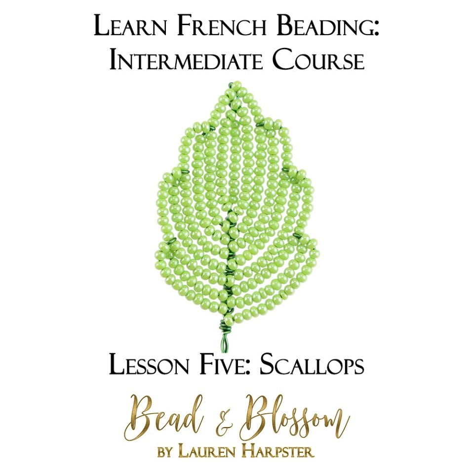 Scallops French Beading Technique Tutorial by Lauren Harpster
