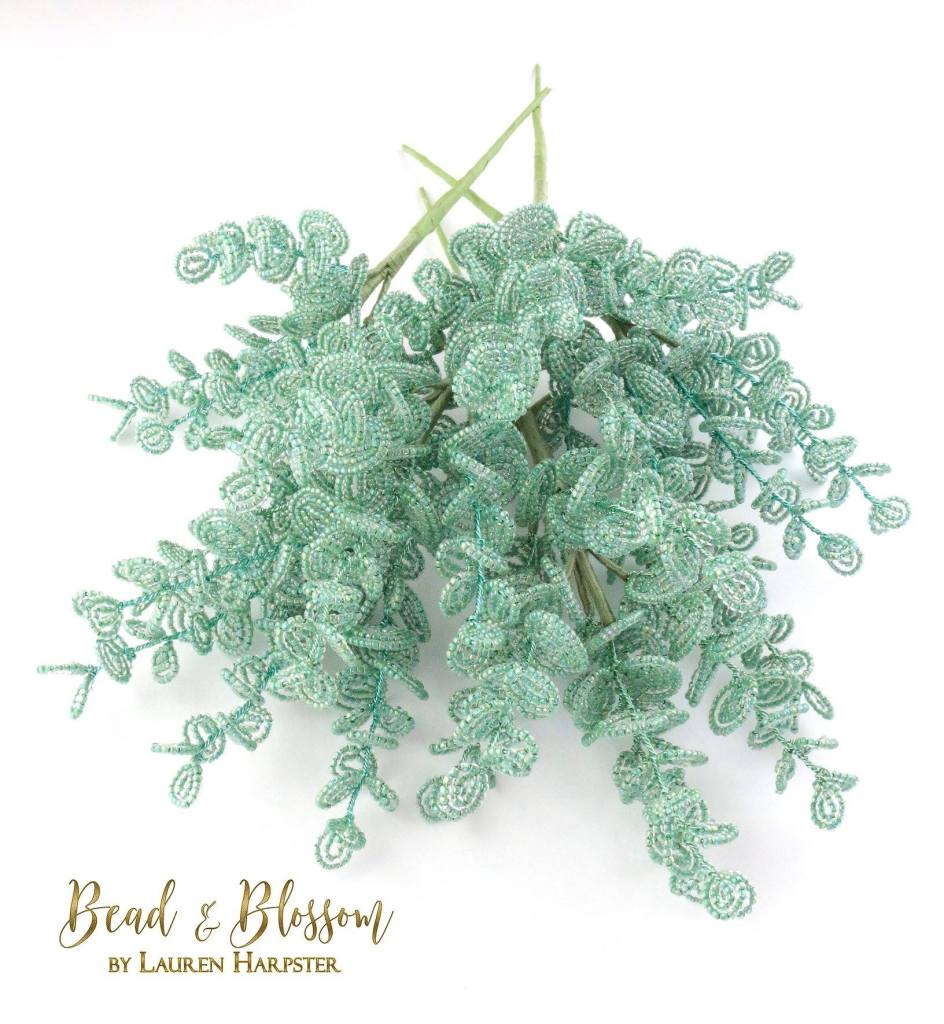 French Beaded Eucalyptus by Lauren Harpster