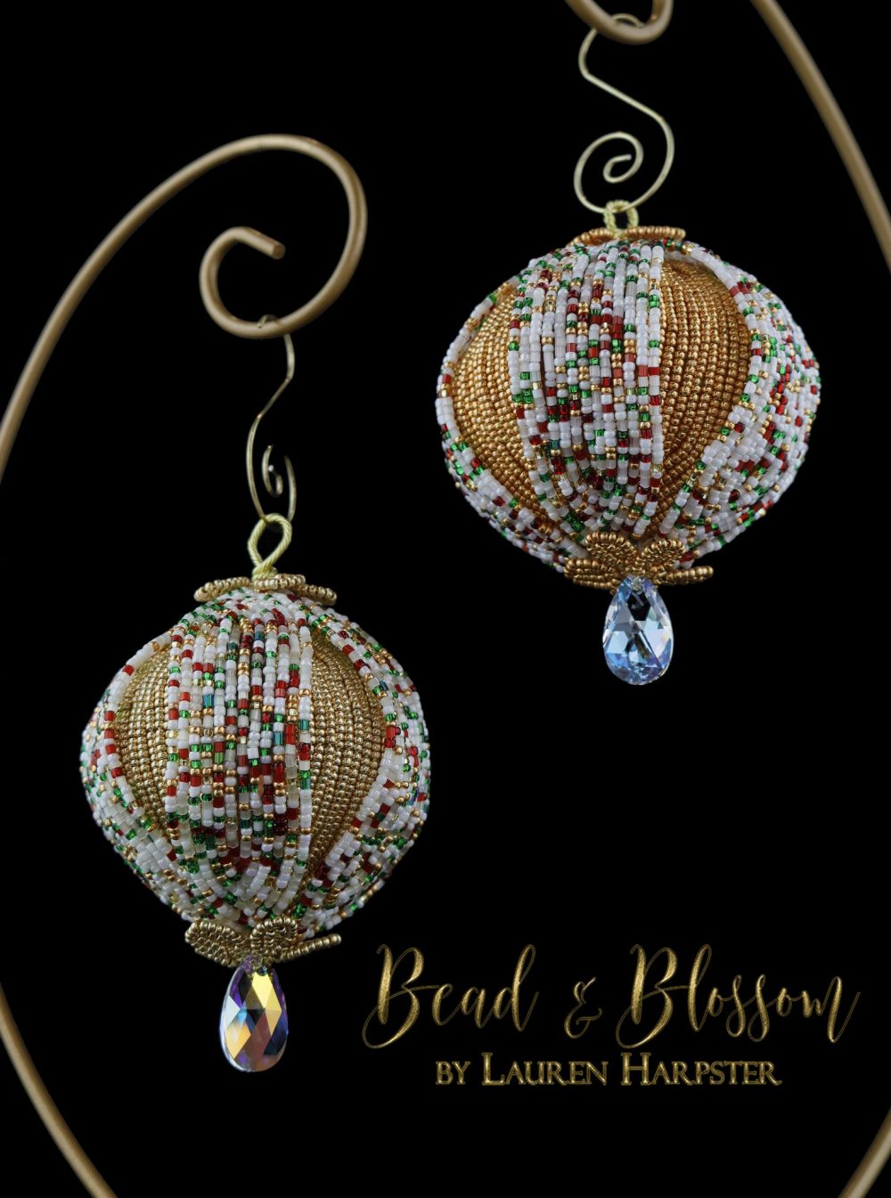 French Beaded Christmas Ornaments by Lauren Harpster