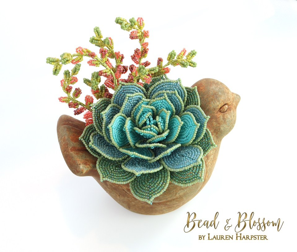 French Beaded Succulents by Lauren Harpster
