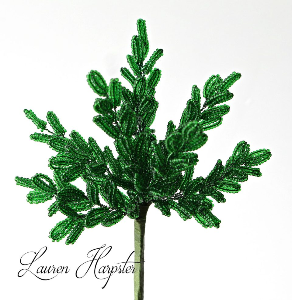 French Beaded Boxwood by Lauren Harpster