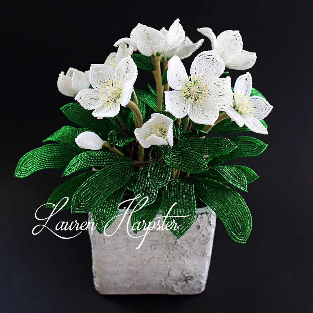 French Beaded Hellebore by Lauren Harpster