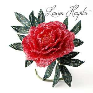 french beaded Tree Peony by Lauren Harpster