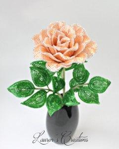 French Beaded Rose by Lauren Harpster
