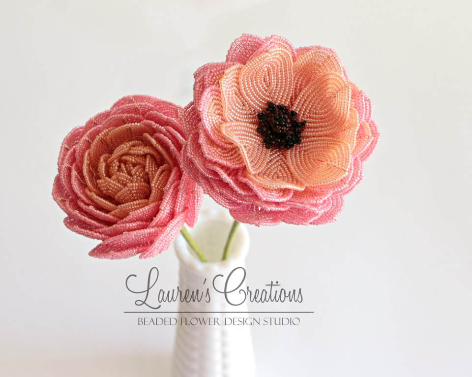 French Beaded Ranunculus by Lauren Harpster