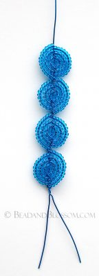 French Beading Technique tutorial - Vertical Continuous Basic Frame - by Lauren Harpster