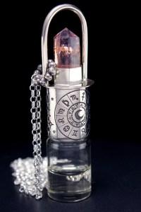 Ametrine Crystal Horoscope Design Rollerball Necklace